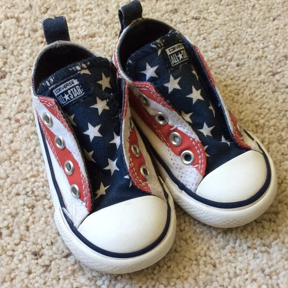 995c5bd28c8d54 Converse Other - Stars and Stripes Baby Converse. Size 6.